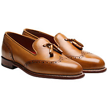 Buy Grenson Monty Leather Loafers, Tan Online at johnlewis.com