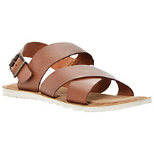 Buy Bertie Funn Textured Leather Crossover Sandals Online at johnlewis.com