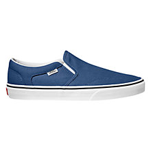 Buy Vans Asher Canvas Slip On Trainers Online at johnlewis.com