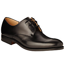 Buy Church's Oslo Leather Derby Shoes, Black Online at johnlewis.com