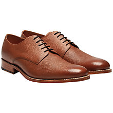 Buy Grenson Toby Goodyear Welt Leather Derby Shoes, Dark Brown Online at johnlewis.com