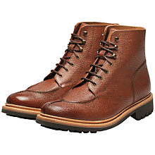 Buy Grenson Grover Leather Boots, Brown Online at johnlewis.com