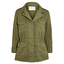 Buy Velvet Makenzie Cotton Twill Jacket, Forest Online at johnlewis.com