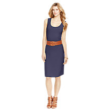 Buy Lauren Ralph Lauren Jersey Dress, Indigo Sky Online at johnlewis.com