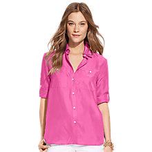 Buy Lauren Ralph Lauren Silk-Cotton Shirt, Pink Hibiscus Online at johnlewis.com