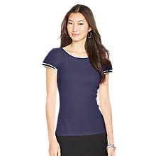 Buy Lauren Ralph Lauren Cotton Tiered-Sleeve Top Online at johnlewis.com