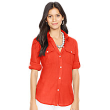 Buy Lauren Ralph Lauren Silk-Cotton Shirt Online at johnlewis.com