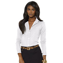 Buy Lauren Ralph Lauren Cotton Long-Sleeved Shirt, White Online at johnlewis.com
