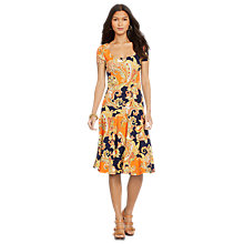 Buy Lauren Ralph Lauren Floral Scoopneck Jersey Dress, Multi Online at johnlewis.com