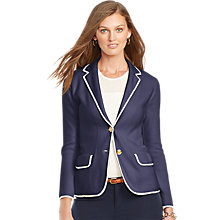 Buy Lauren Ralph Lauren 2-Button Blazer, Indigo Sky Online at johnlewis.com
