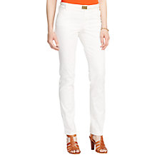 Buy Lauren Ralph Lauren Straight-leg Trousers, Modern Cream Online at johnlewis.com