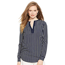 Buy Lauren Ralph Lauren Stripe Tunic Top, Navy/Pearl Online at johnlewis.com