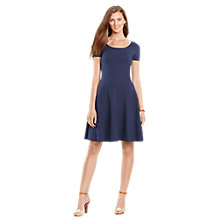 Buy Lauren Ralph Lauren Flared Scoopneck Dress, Indigo Sky Online at johnlewis.com