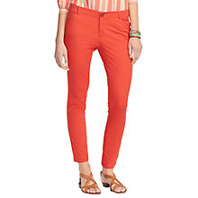 Buy Lauren Ralph Lauren Slim Ankle Trousers. Faded Red Online at johnlewis.com