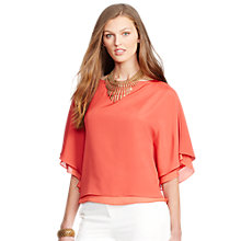 Buy Lauren Ralph Lauren Boatneck Top, Faded Red Online at johnlewis.com