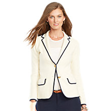 Buy Lauren Ralph Lauren Notch Collar Jacket, Modern Cream Online at johnlewis.com