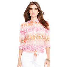 Buy Lauren Ralph Lauren Ombré-Print Cotton Shirt, Multi Online at johnlewis.com