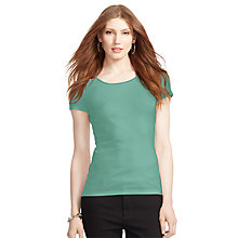 Buy Lauren Ralph Lauren Rib Top, Rugged Sage Online at johnlewis.com