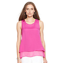 Buy Lauren Ralph Lauren Sleeveless Layered Top, Pink Hibiscus Online at johnlewis.com