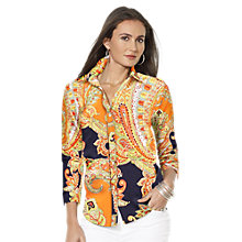 Buy Lauren Ralph Lauren Priya Cotton Shirt, Multi Online at johnlewis.com