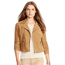 Buy Lauren Ralph Lauren Venocia Suede Jacket, Acorn Online at johnlewis.com