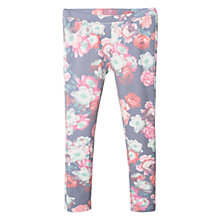 Buy Mango Kids Girls' Fun Floral Print Leggings, Blue Online at johnlewis.com