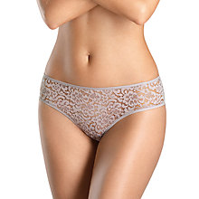 Buy Hanro Messina Lace Midi Briefs, Shadow Online at johnlewis.com