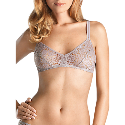 Hanro Messina Bustier Soft Lace Bra, Shadow
