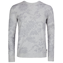 Buy Ted Baker T for Tall Litaly Floral Print Sweatshirt, Grey Marl Online at johnlewis.com