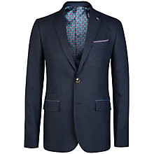 Buy Ted Baker T for Tall Lubbock Textured Blazer, Navy Online at johnlewis.com