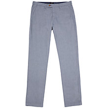 Buy Ted Baker Wichita Twill Trousers, Blue Online at johnlewis.com