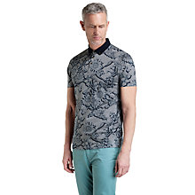 Buy Ted Baker T for Tall Radcity Floral Print Polo Shirt, Navy Online at johnlewis.com