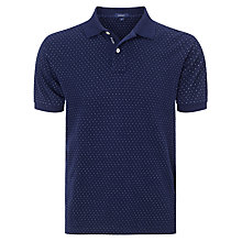 Buy Gant Pin Dot Cotton Polo Shirt, Evening Blue Online at johnlewis.com
