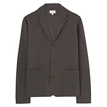 Buy Jigsaw Linen Cotton Milano Blazer, Smoke Online at johnlewis.com