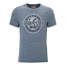 Buy Barbour International Triumph Injector Graphic T-Shirt, Indigo Online at johnlewis.com