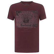 Buy Barbour Laundryman Ship Print T-Shirt, Merlot Online at johnlewis.com