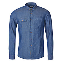 Buy Barbour International Lewis Denim Shirt, Indigo Online at johnlewis.com