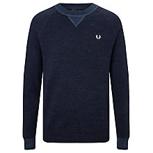 Buy Fred Perry Budding Sweatshirt, Vintage Navy Marl Online at johnlewis.com
