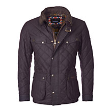 Buy Barbour International Speedometer Waxed Quilted Jacket, Rustic Online at johnlewis.com