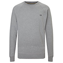 Buy Fred Perry Loop Back Sweatshirt, Steel Marl Online at johnlewis.com