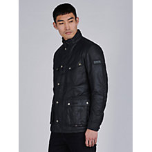 Buy Barbour International Duke Waxed Jacket, Black Online at johnlewis.com