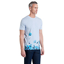 Buy Ted Baker T for Tall Trybeka Graphic Floral Print T-Shirt, Bright Blue Online at johnlewis.com