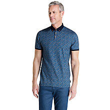Buy Ted Baker T for Tall Wilburg Printed Floral Polo Shirt, Blue Online at johnlewis.com