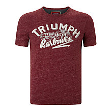Buy Barbour International Injector Triumph Graphic T-shirt, Merlot Online at johnlewis.com
