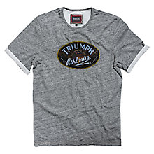 Buy Barbour International Injector Print T-Shirt, Grey Marl Online at johnlewis.com
