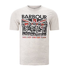 Buy Barbour International Team T-Shirt, Natural Marl Online at johnlewis.com