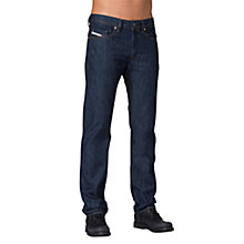 Buy Diesel Buster Selvedge 842I Tapered Jeans, Denim Blue Online at johnlewis.com