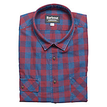 Buy Barbour Thunder Check Shirt, Crimson Online at johnlewis.com