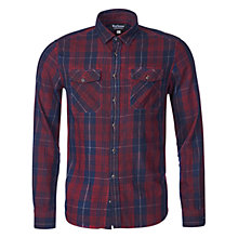 Buy Barbour International Stanley Check Shirt, Red Online at johnlewis.com