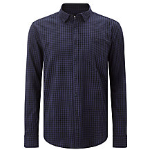 Buy Barbour International Ignition Gingham Cotton Shirt, Midnight Online at johnlewis.com